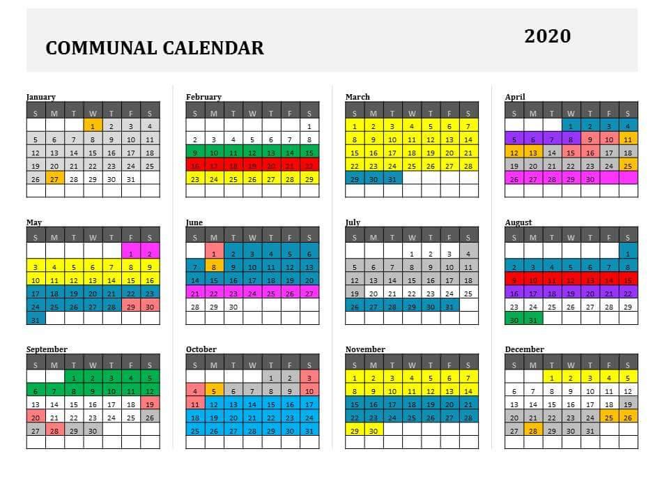 Communal Calendar 2020